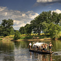 Batteau On The James River by Pete Hellmann