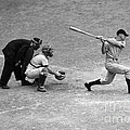 Batter Swings Strike At Home Plate by H. Armstrong Roberts/ClassicStock