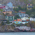 Battery Homes In St. John's, Newfoundland by Les Palenik