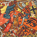 Battle Between Crusaders And Muslims by French School