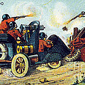 Battle Cars, 1900s French Postcard by Science Source