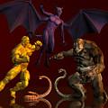 Battle Of Good Vs Evil by Carlos Diaz
