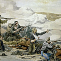 Battle Of Beecher's Island by Frederic Sackrider Remington