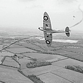 Battle Of Britain Spitfire Black And White Version by Gary Eason