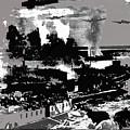 Battle Of Stalingrad Nazi Plane Crossing Volga River 1942 by David Lee Guss