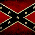Battle Scarred Confederate Flag by Randy Steele