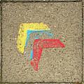 Bauhaus Symbol Paving Stone by Anita Van Den Broek