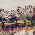 Bavarian Landscape by Donald Paczynski