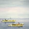 Bay Boats Scalloping by Tony Scarmato