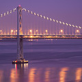 Bay Bridge At Dusk by Sean Duan