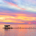 Bay Sunset by Janet Fikar