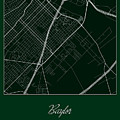 Baylor Street Map - Baylor University Waco Map by Jurq Studio