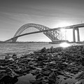 Bayonne Bridge Black And White by Michael Ver Sprill