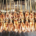 Bbq Asian Grilled Squid In Kep Market Cambodia by Jacek Malipan