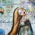 Be Brave Inspirational Mixed Media Folk Art by Stanka Vukelic
