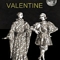 Be My Valentine Two Men Black Background by Eric Kempson