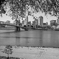 Beach An Cincinnati Skyline  by John McGraw