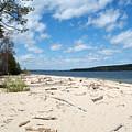Beach And A Lake by Linda Kerkau