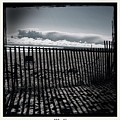 Beach And Fence by Judith Kitzes