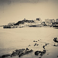 Beach And Harbour In Tenby by A Cappellari