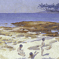 Beach At Cabasson by Henri-Edmond Cross