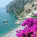 Beach At Positano by Donna Corless
