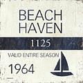 Beach Badge Beach Haven by Debbie DeWitt