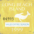 Beach Badge Long Beach Island 2 by Debbie DeWitt
