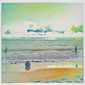 Beach Ball And Swimmers by Judith Kitzes