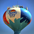 Beach Ball Water Tower In Ocean City by Bill Swartwout Photography