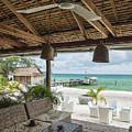 Beach Bar In Sok San Area Of Koh Rong Island Cambodia by Jacek Malipan