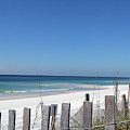 Beach Behind The Fence by Christiane Schulze Art And Photography