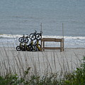 Beach Bicycles by Carol  Bradley
