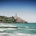 Beach By Jaffa Yafo Old Town Area Of Tel Aviv Israel by Jacek Malipan