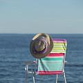 Beach Chair Chalker Beach Old Saybrook Connecticut  by Edward Fielding