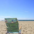 Beach Chair On A Sandy Beach by Edward Fielding