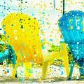 Beach Chair Print by Barbara Chichester