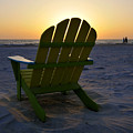 Beach Chair Sunset by David Lee Thompson