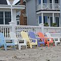 Beach Chairs - Awaiting Summer by Margie Avellino