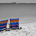 Beach Chairs 2  by Perry Webster