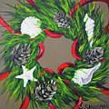 Beach Christmas Wreath by Carolyn Shireman