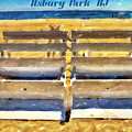 Beach Closed Asbury Park Nj by Geraldine Scull
