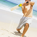 Beach Cricket Slog by Jorgo Photography - Wall Art Gallery
