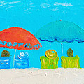 Beach Decor - Umbrellas Panorama by Jan Matson