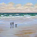 Beach Dog Walk by Frank Wilson