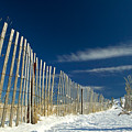 Beach Fence And Snow by Matt Suess