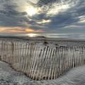 Beach Fence by Mike Deutsch