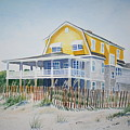 Beach Front At Wrightsville Beach by Tom Harris