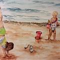 Beach Fun. 1 by Ellen Canfield