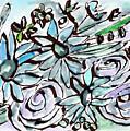 Beach Glass Flowers 2- Art By Linda Woods by Linda Woods